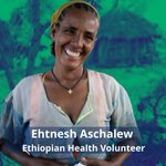 Image for the Tweet beginning: Ehtnesh Aschalew volunteers in a