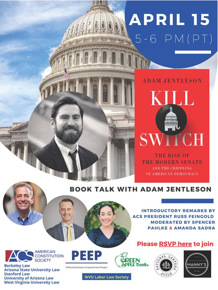 Wondering why nothing gets done in Congress? Join me & Spencer Pahlke this Thursday from 5pm to 6pm to discuss the filibuster's destructive impact on our democracy with @AJentleson. With introductory remarks from Sen. Feingold. You can sign up  here: https://t.co/onsPrnR1vG https://t.co/i7kxgoqynZ