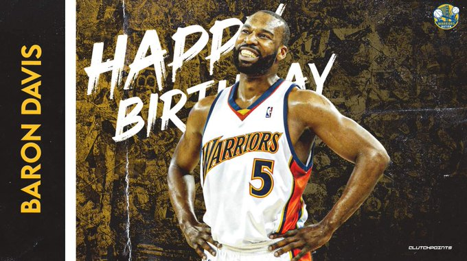 Join Warriors Nation in wishing former 2x All-Star, Baron Davis, a happy 42nd birthday!