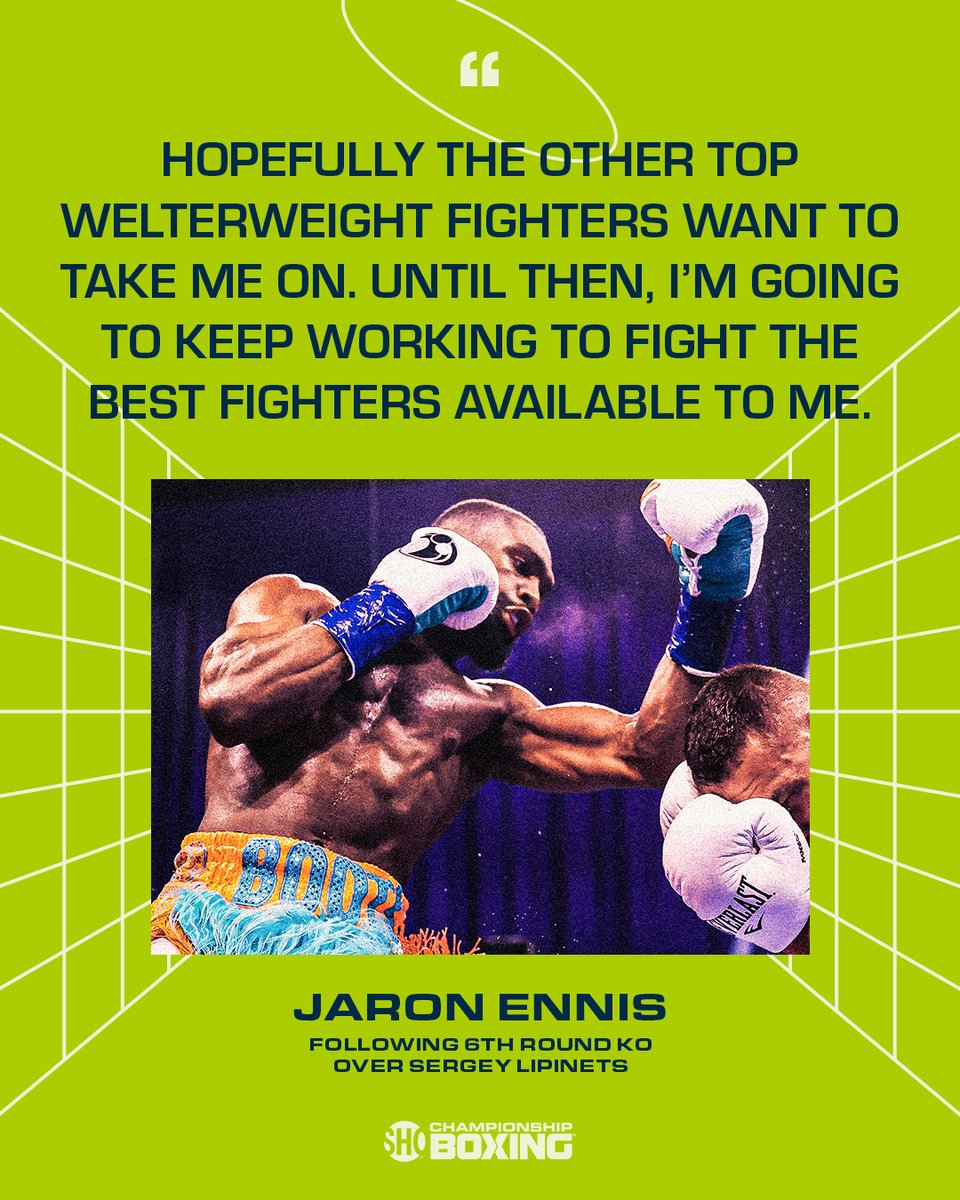 .@JaronEnnis is ready to dance with the best🥊   👀 If you missed #EnnisLipinets: https://t.co/smLmfcHLkH https://t.co/vpijmwAoot