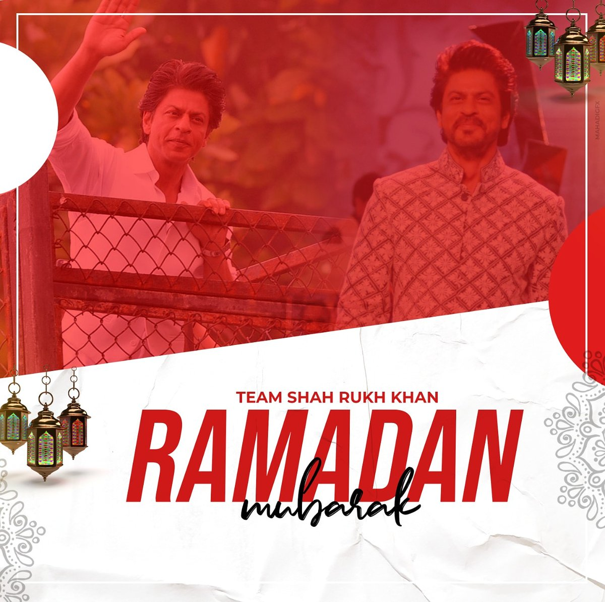 May this holy month bring happiness, prosperity and good health. 🌙  Wish you all Ramadan Mubarak 🤲  @iamsrk  #RamadanMubarak #ShahRukhKhan #TeamShahRukhKhan #Mahadigfx