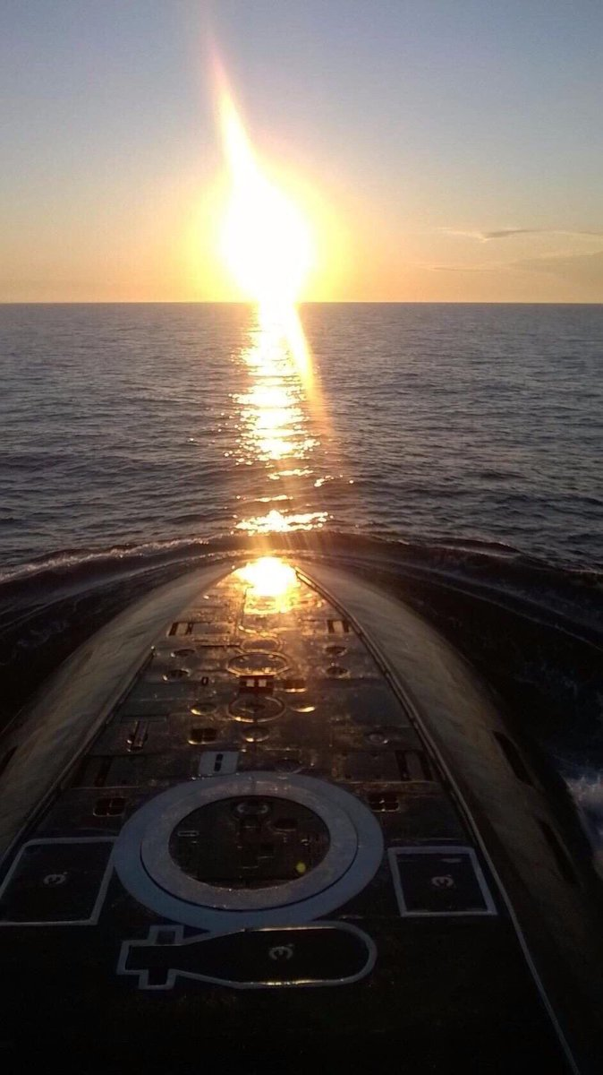 A nice #sunset shot over the bow of a #Russian kilo class #Submarine   4 decades after the first was #commissioned and 3 decades after the end of the #ColdWar they are still in production 74 have been completed and more are still being built   #History #Russia