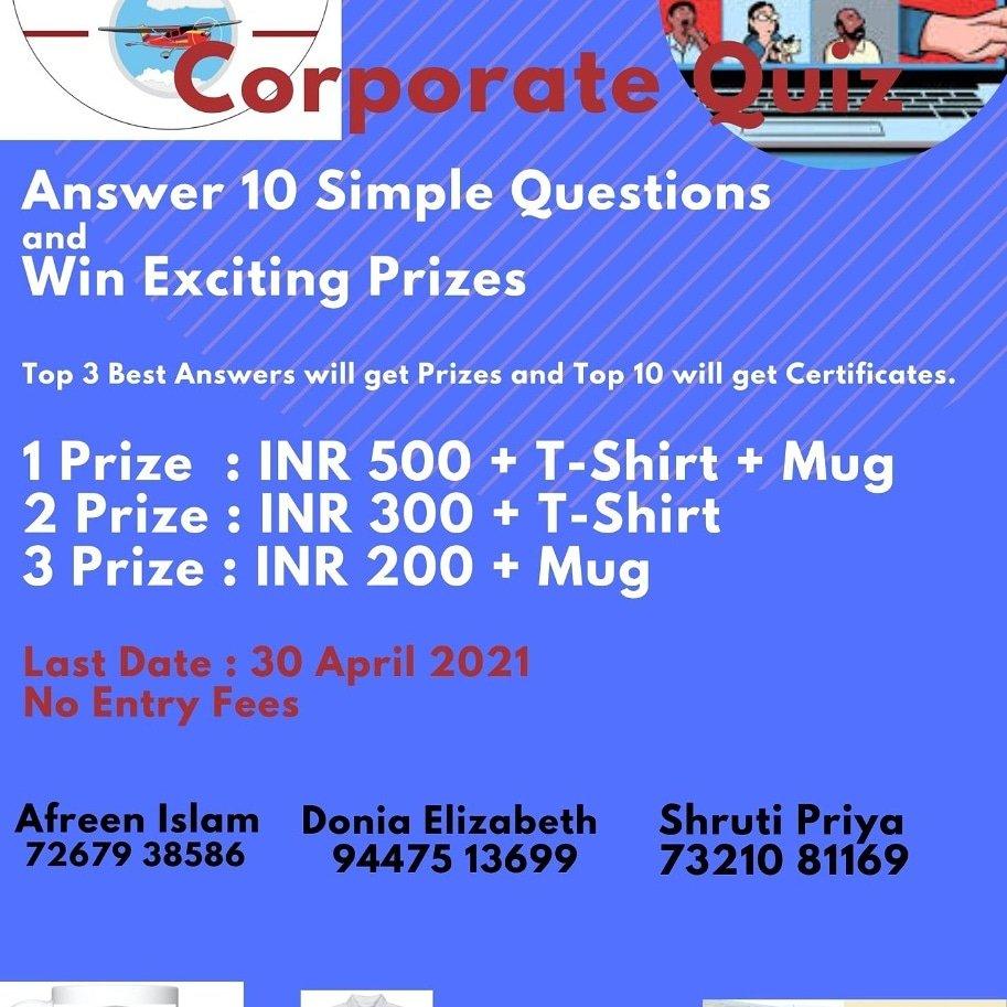 #Quiz Capt. Shekhar Gupta Donia Varkey Afreen Islam SHRUTI PRIYA A Sowmya Mansi Jain  #linkedin #india #instagram    #mumbaijobs  #language #pune #delhi #eidmubarak #ganeshchaturthi  #Corporate #Quiz for #BE / #BTech /  #BBA / #BCA /