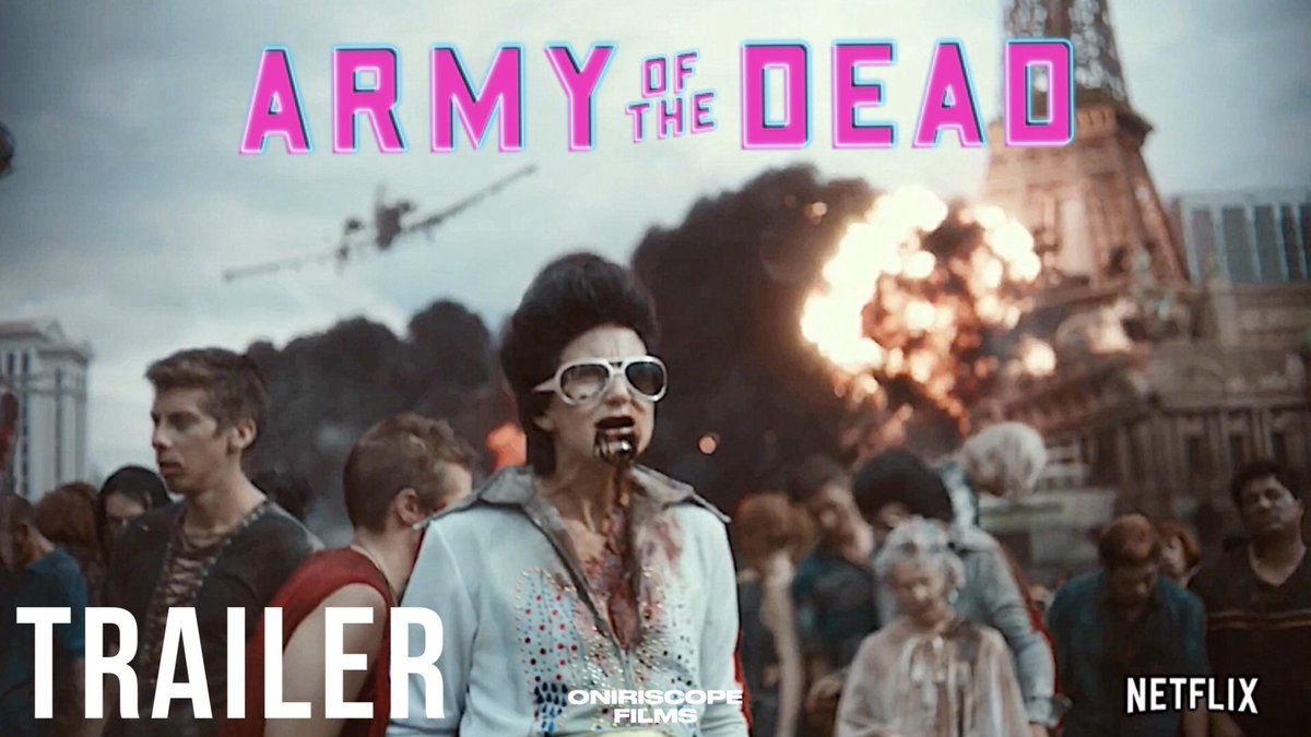 #ArmyOfTheDead we're almost there! Almost!  We get a better idea of what to expect from #zackSnyder flick on #Netflix as an @netflix original!  Can't wait to see it!   The trailer 👇