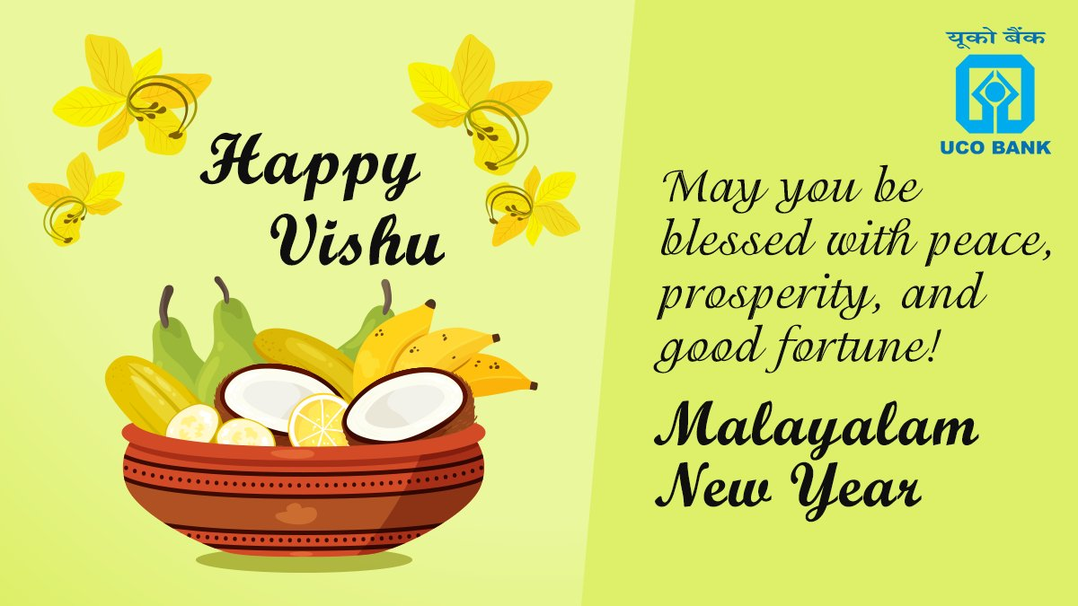 UCOBank wishes you a Vishu filled with love, peace and joy throughout the year https t.co dLbPnwyL57