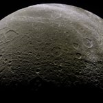 Image for the Tweet beginning: Dione - Sept 30 2007  (Credit: