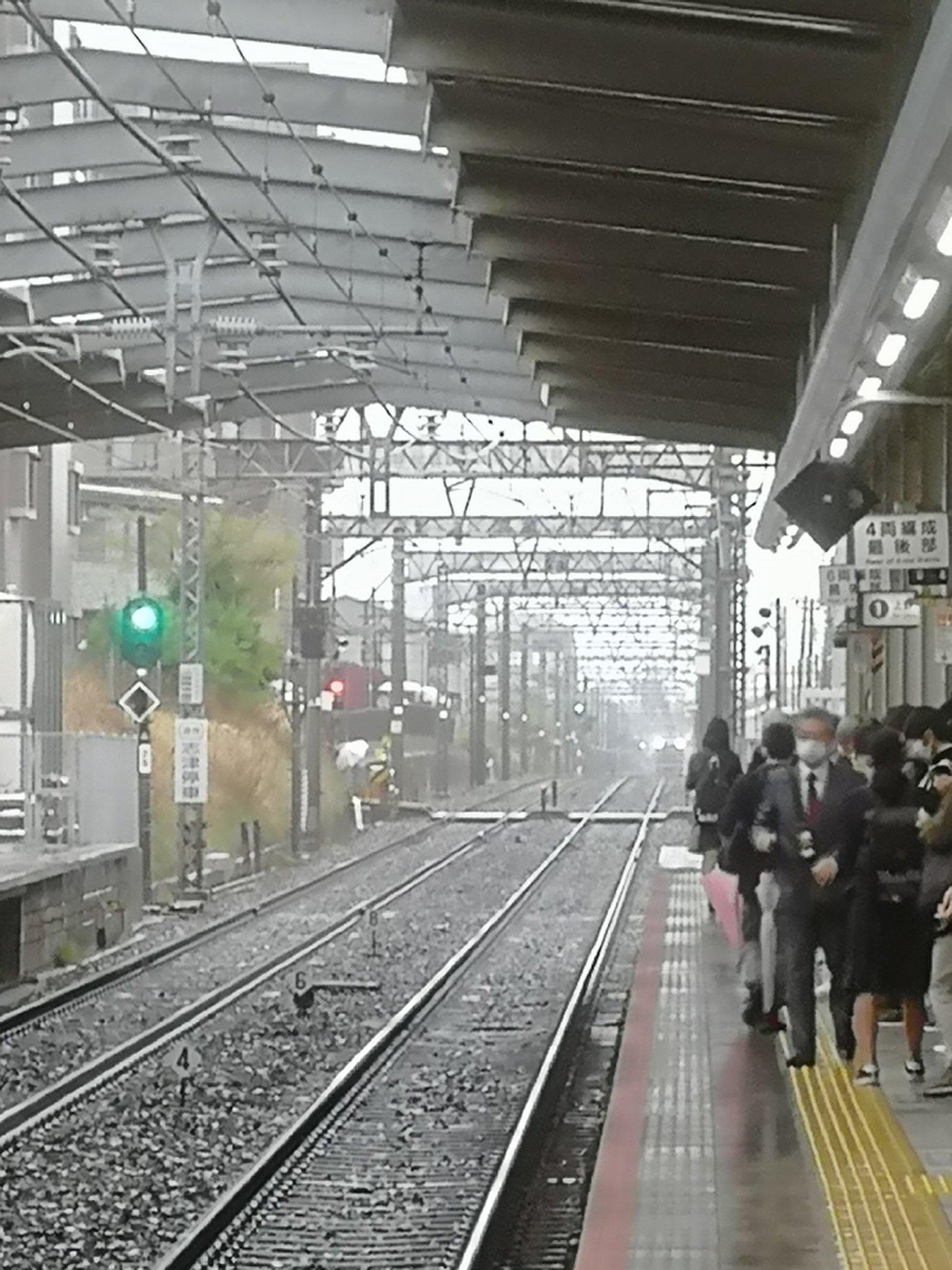 京成本線の実籾駅~勝田台駅間の人身事故の画像