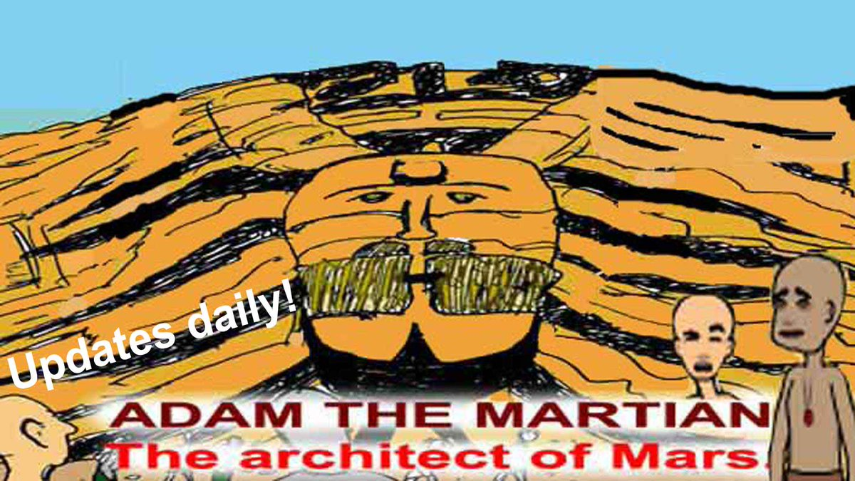 @NASA @NASAPersevere @Dr_ThomasZ Before the landing of #Perseverancerover on Mars, we knew there was a civilization. Read the daily #comic of ADAM THE MARTIAN, THE ARCHITECT OF #MARS , the civilization hidden by #NASA   Click https://t.co/taiELRikHl   #Mars2021 #CountdownToMars #MarsPerseverance #Perseverance https://t.co/c5nOdpqDjs