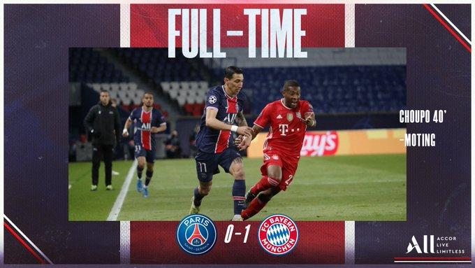 Hasil akhir PSG 0-1 Bayern Munchen