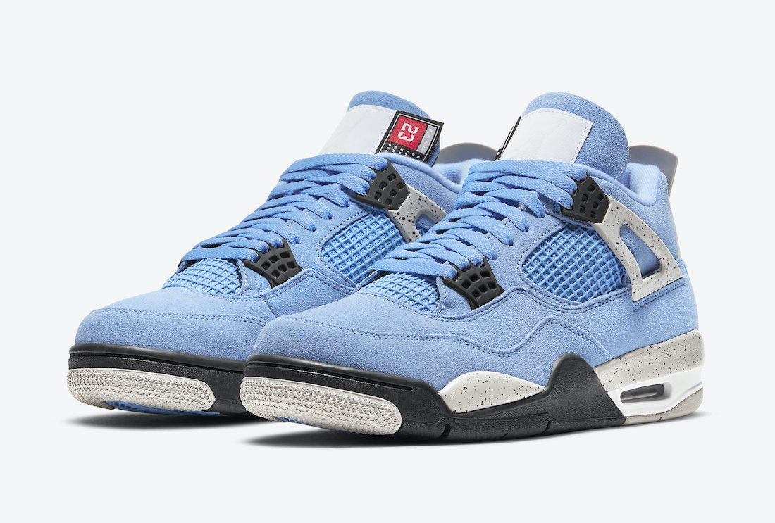 "The ""University Blue"" AJ4's drop at the end of this month. 😈  Drop Info 📲https://t.co/4z0WukfIvy https://t.co/2uxZKYtOIB"