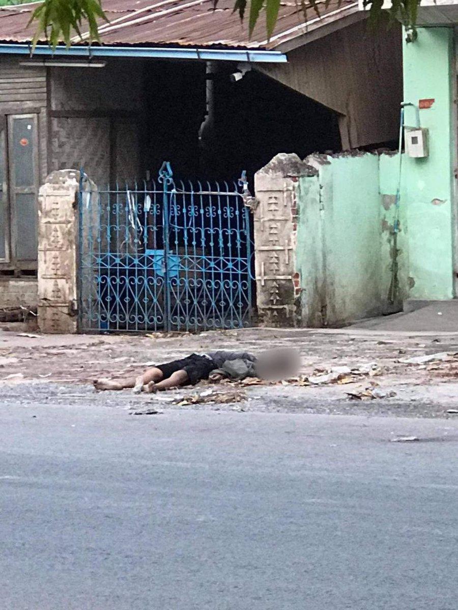 Tw//DEAD BODY‼️ #Mandalay:  A body of an unidentifiedman was found in 32nd Street (86x87 Street) at 8:50am. The body was taken away by the funeral association.  #Apr14Coup #WhatsHappeningInMyanmar @RapporteurUn @DrSasa22222 @SchranerBurgen1 @USAmbUN @SAdamsR2P https://t.co/QvTuC1O4wv