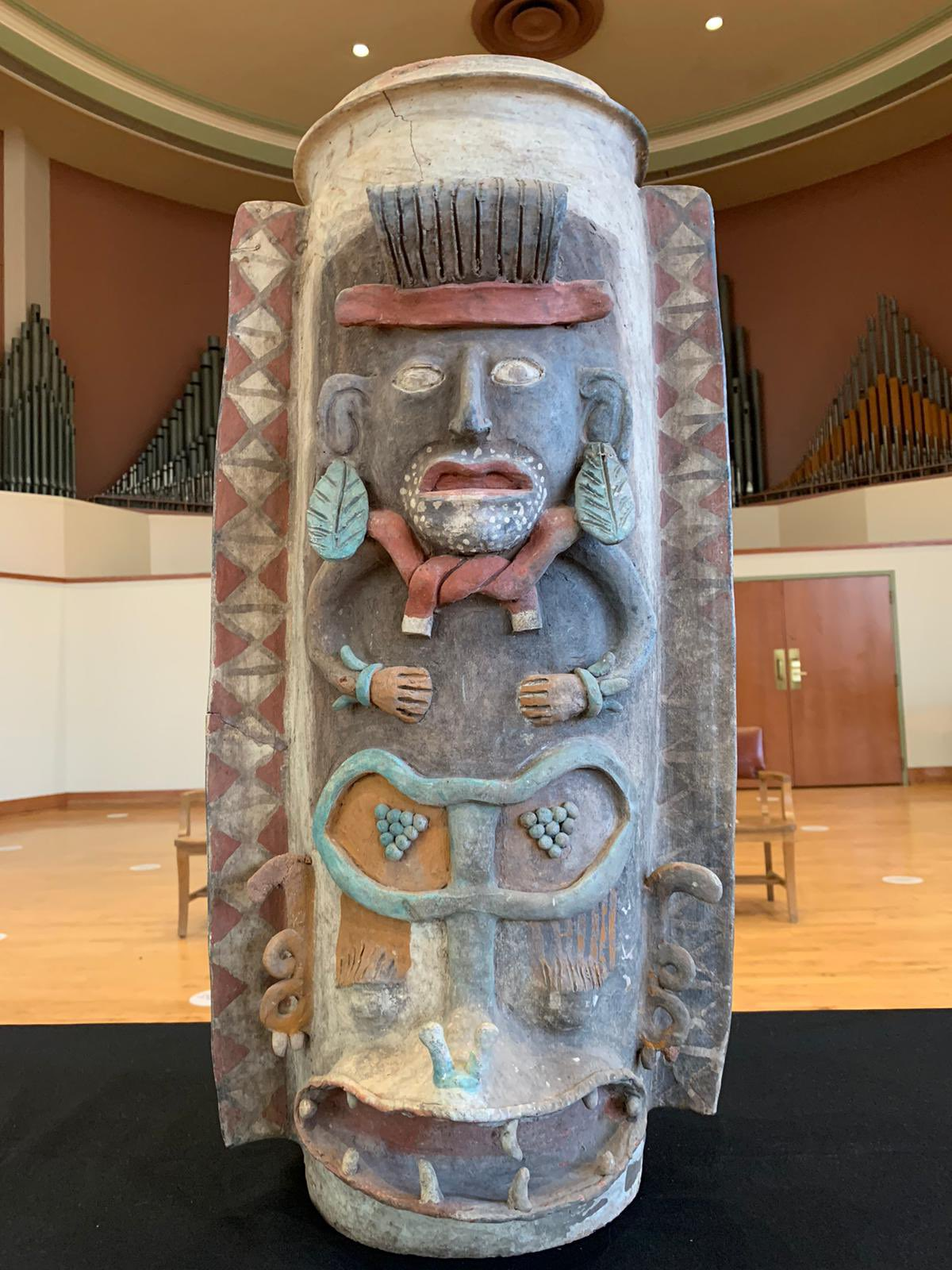 Urna maya repatriada a México la semana pasada.