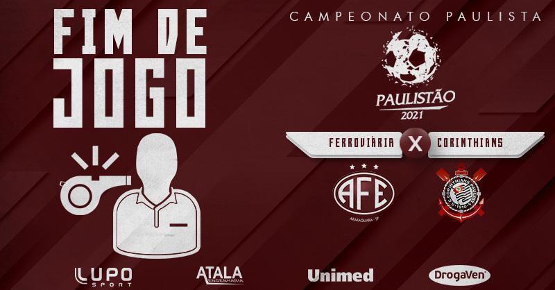 De virada, com gols de Higor Meritão e Xandão, a Ferroviária vence o Corinthians por 2 a 1 e soma mais três pontos na classificação!