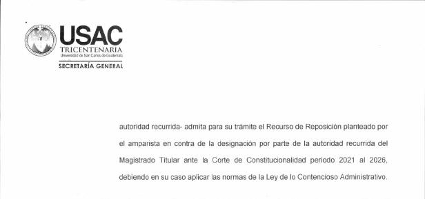 test Twitter Media - También informó sobre el estado actual de las impugnaciones de la designación de Magistrado titular a la @CC_Guatemala por el CSU de la USAC. https://t.co/yo2HdsXIXf