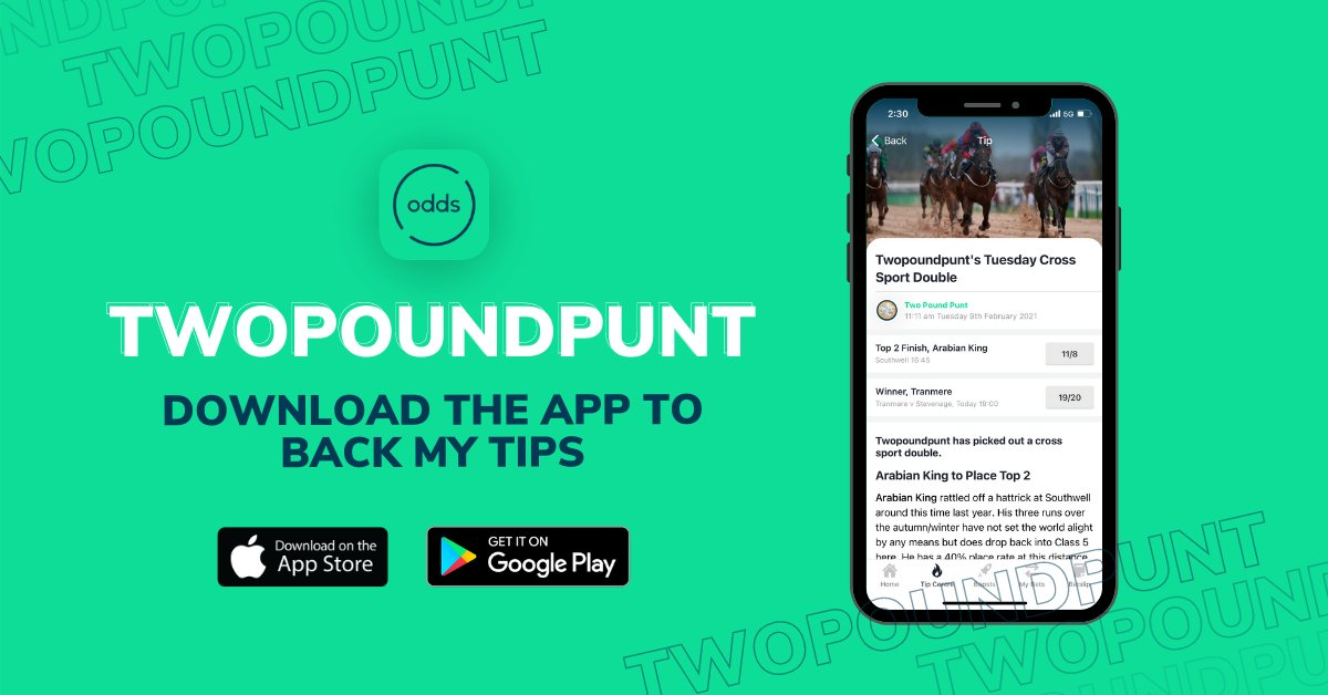 Daily Double now live on the @oddschecker app. Odds 5.2/1. Click on the tips tab to see the selections with blubrs.  Get the app below 👇  https://t.co/PRiANI795q  #ad https://t.co/ZDeCPLL6Gi 18+ https://t.co/TCk9tuBc08 https://t.co/4fC06CPHdD