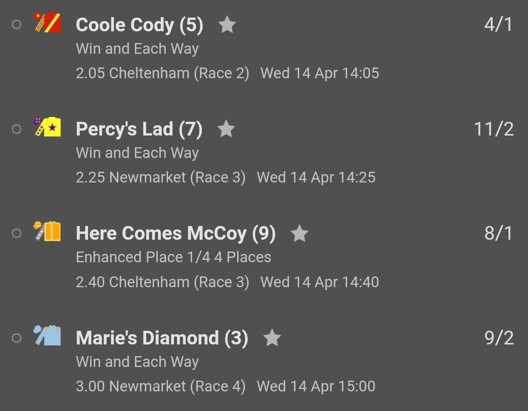 Got to love the bet365 edit function with full cashout. Solid Stone out and Marie's Diamond in https://t.co/iTMQX31tOs https://t.co/HJl0JnZYtN