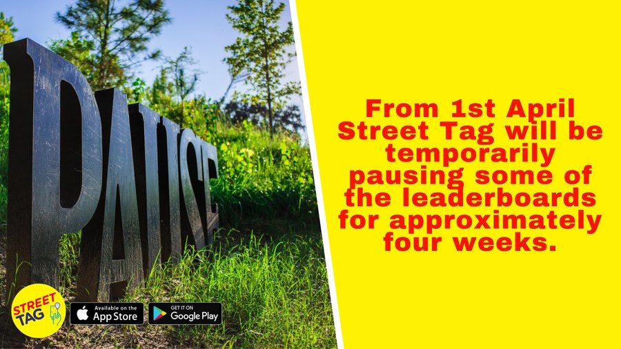 Heads up @streettaghq users! From 1st April Street Tag will be temporarily pausing some of the leaderboards (including #Oxfordshire) for approximately four weeks. The pause is to allow them to make some important updates. More details here 👇 https://t.co/1Mk59hGwrF