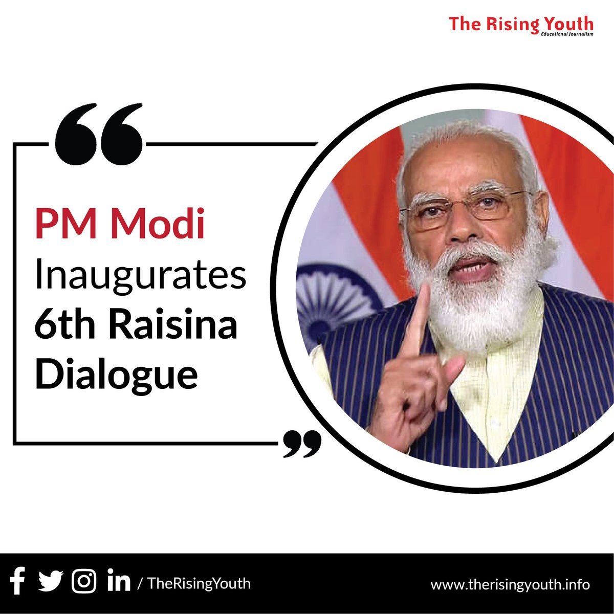 Swipe and learn more about The Raisina Dialouge 2021. #Raisina2021 #RaisinaDialogue2021 #RaisinaDialogue #viralworld #PMModi #India #thinktank #outbreak #Inauguration2021 #therisingyouth #yourvoicematters