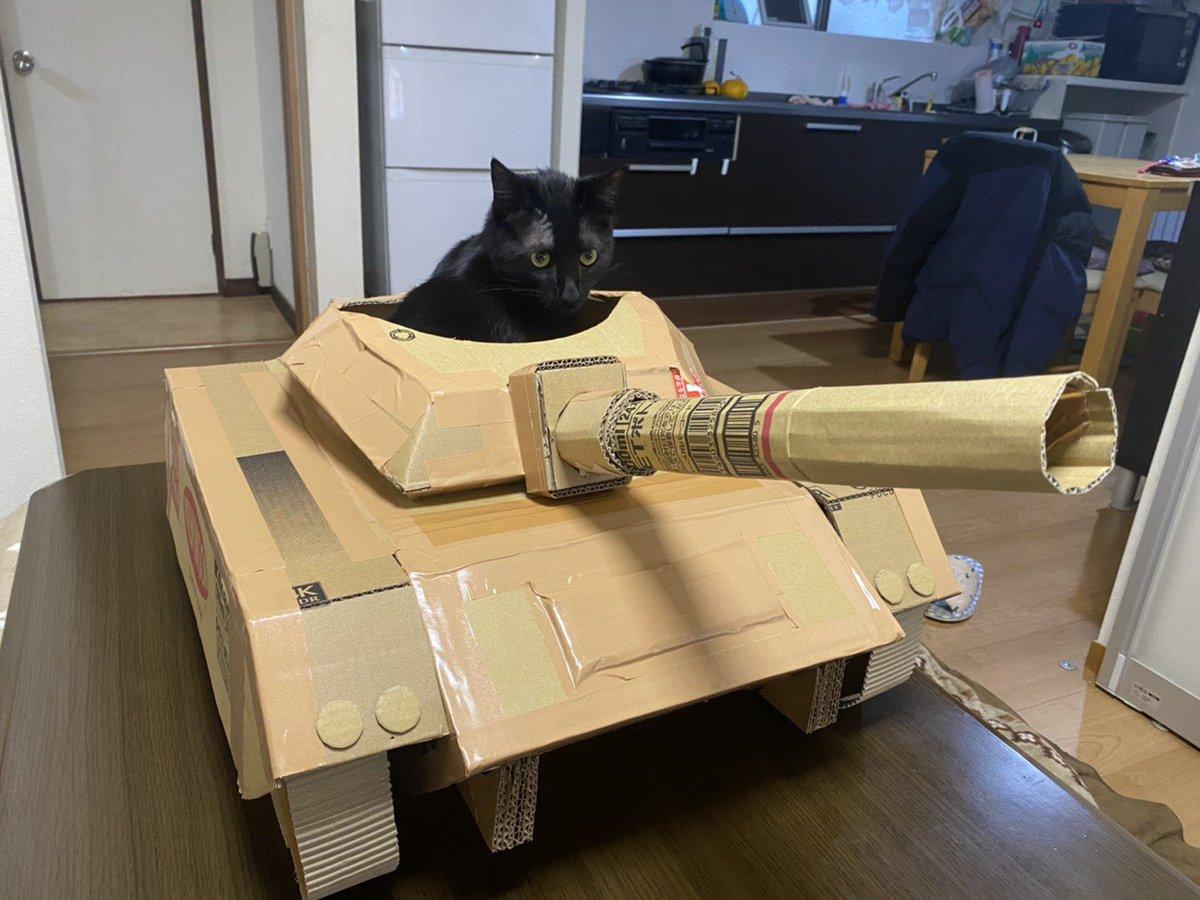 にゃんこ大戦争?!本格的な猫戦車・大砲が飛んできそう!