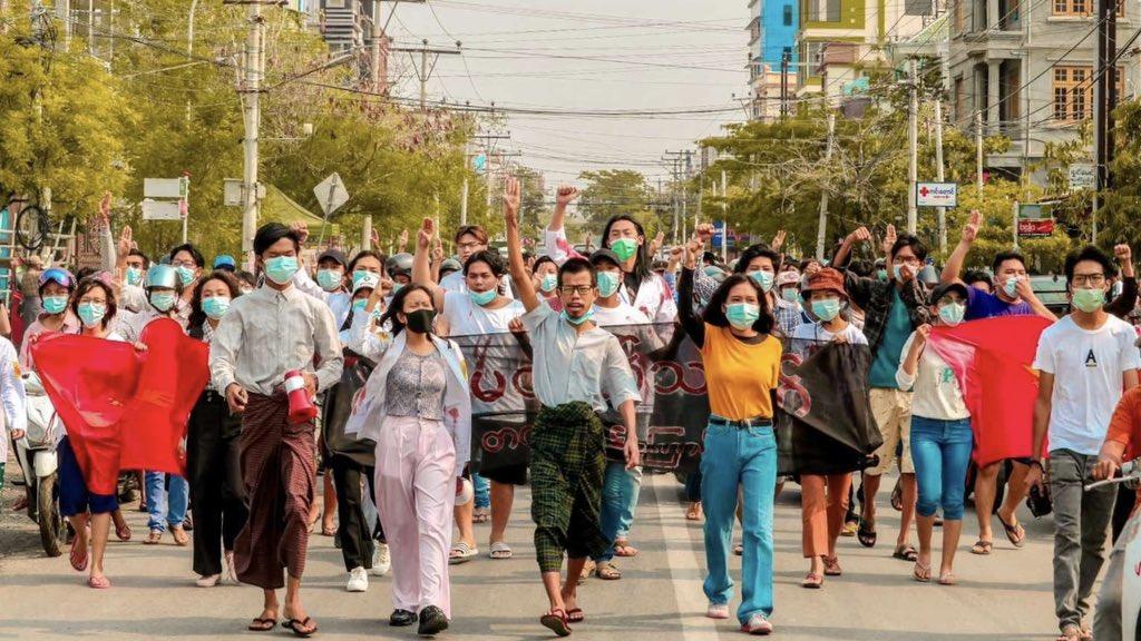 4/14 today in #Myanmar   တော်လှန်သင်္ကြန် သွေးမတိတ်သပိတ်   #WhatsHappeningInMyanmar  #WhatIsHappeningInMyanmar   Photo credit https://t.co/wzREsJyBCB