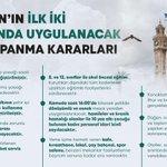 Image for the Tweet beginning: Sevgili İzmirliler,  Bugün alınan yeni önlemlerle