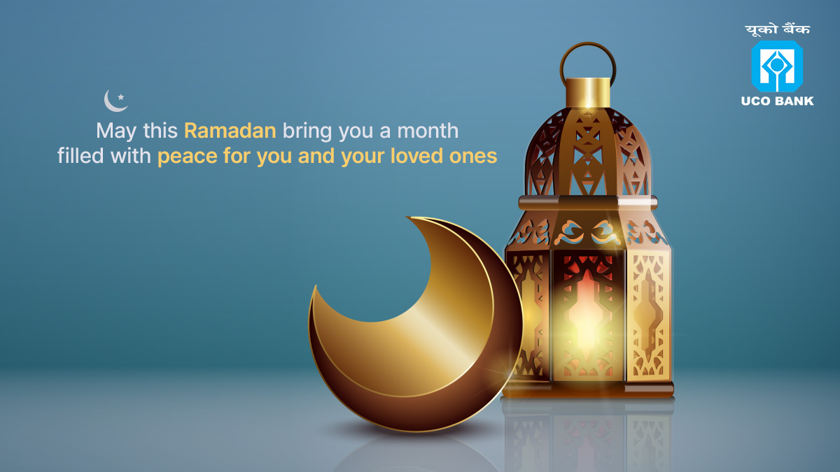 UCOBank sends Ramadan Kareem greetings to all. May this auspicious month be filled with hope and lots of happiness