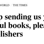 Image for the Tweet beginning: Cheery headline for authors in