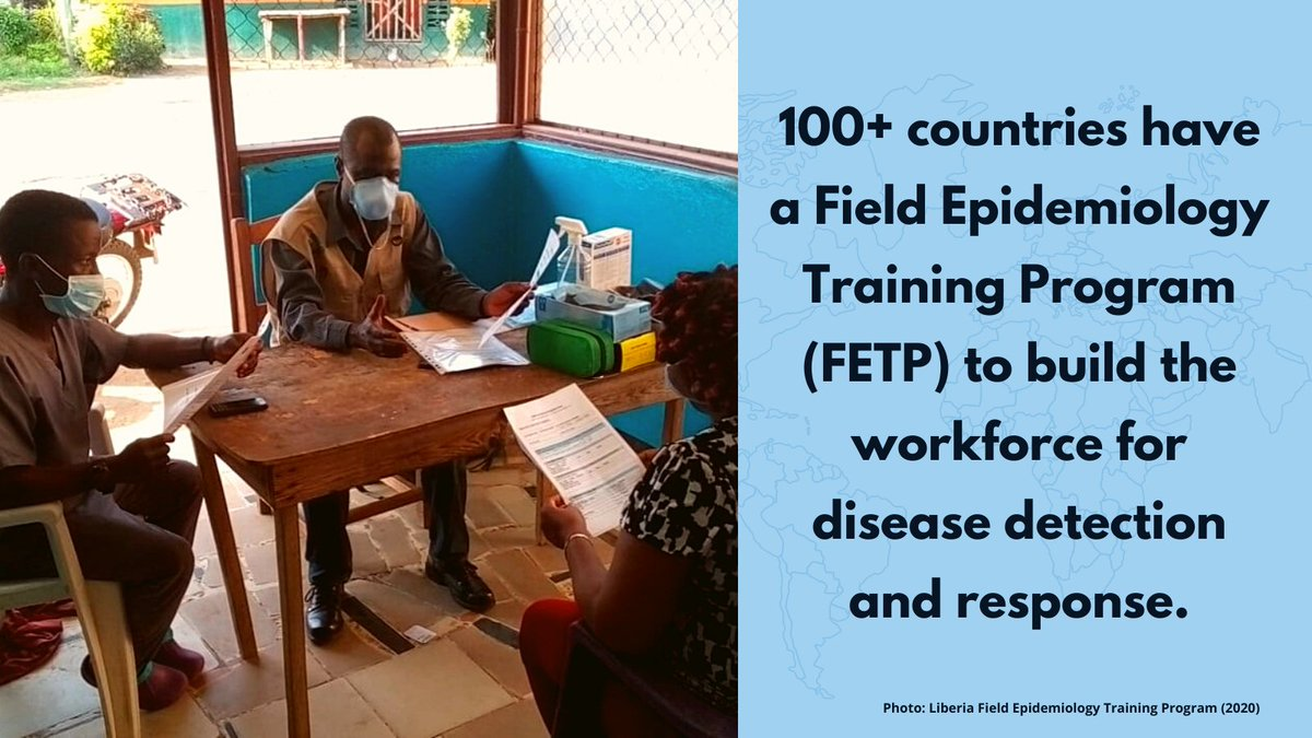 100+ countries have a Field Epidemiology Training Program (#FETP) to build the workforce for detecting and responding to health threats. We must strengthen this enterprise to achieve #GlobalHealthSecurity. A new group is focused on this: https://t.co/RGCA2jU4Wx #FETPEnterprise https://t.co/v7hyOsKGMS