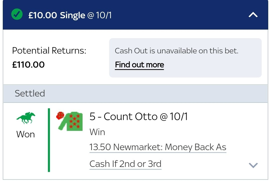 Well we do like that for a start, winner with Count Otto at skybet and 2nd for MB with PP. Did I do the forecast? No. However, that is day sorted and then some 👍 https://t.co/mU2NazmFjz