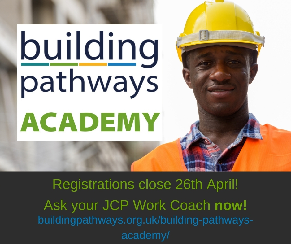 Sign ups for our new Building Pathways Academy close 26/04!   https://t.co/BQAYvgNVXP  @JCPinSthLondon @JCPinEastLondon @JCPinWestLondon @JCPinNthLondon @WeAreMcAlpine @lovepaddington   #LoveConstruction #Careers #Training #Online #ConstructionUK #Support #CV #CSCS #Employability