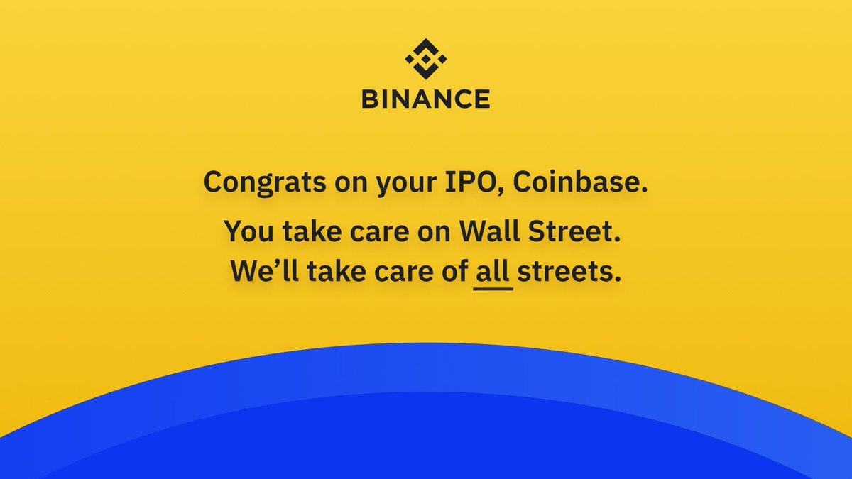 @binance's photo on Coinbase