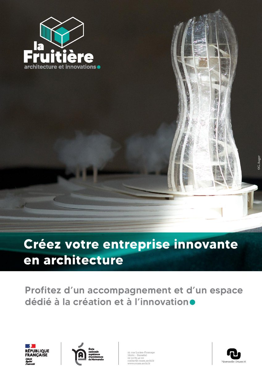 🔔@EnsaNormandie lance un appel à candidatures pour son espace de #création et d' #innovation #architecturale ! Pré-incubateur spécialisé #architecture :…