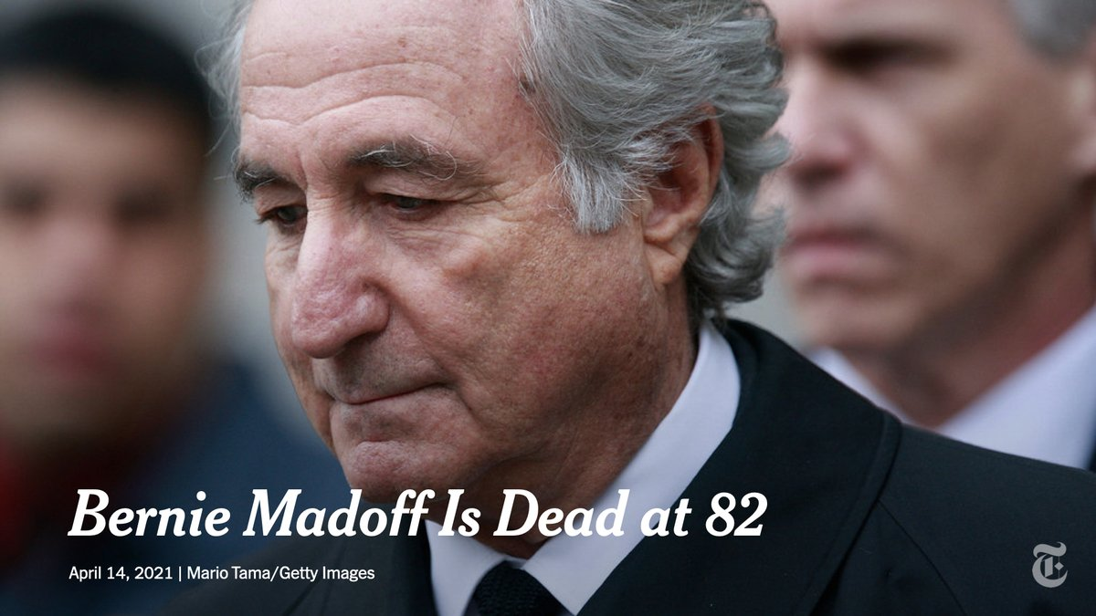 Breaking News: Bernie Madoff, the architect of the largest Ponzi scheme in history, has died in prison at 82. The victims of his fraud numbered in the thousands. https://t.co/Ir6jFYZaGo https://t.co/0d1qtHfVOZ