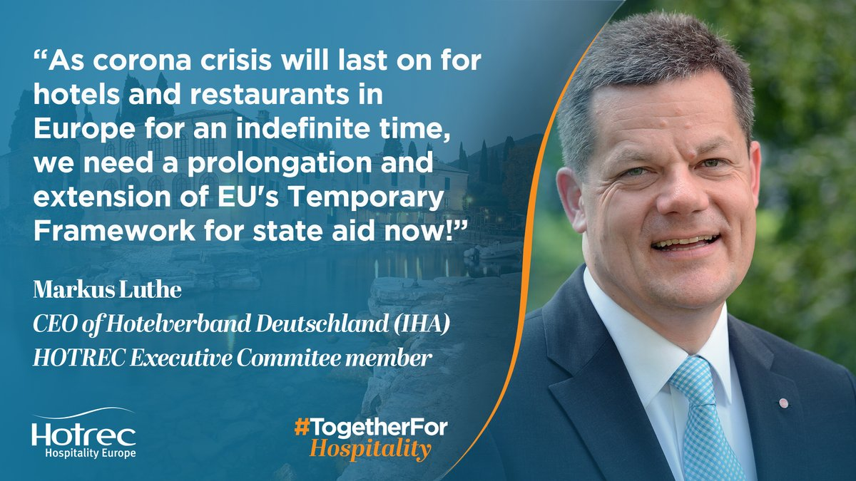 RT @HOTREC_EUROPE: #TogetherForHospitality: further extending the #EU State Aid Temporary framework is essential to help bring hope to the…