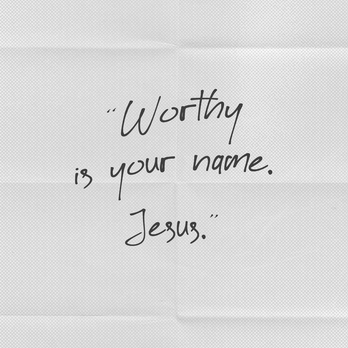 Worthy is your name, Jesus 🤍 https://t.co/PszCXooyHr https://t.co/4oOB1LgQc4