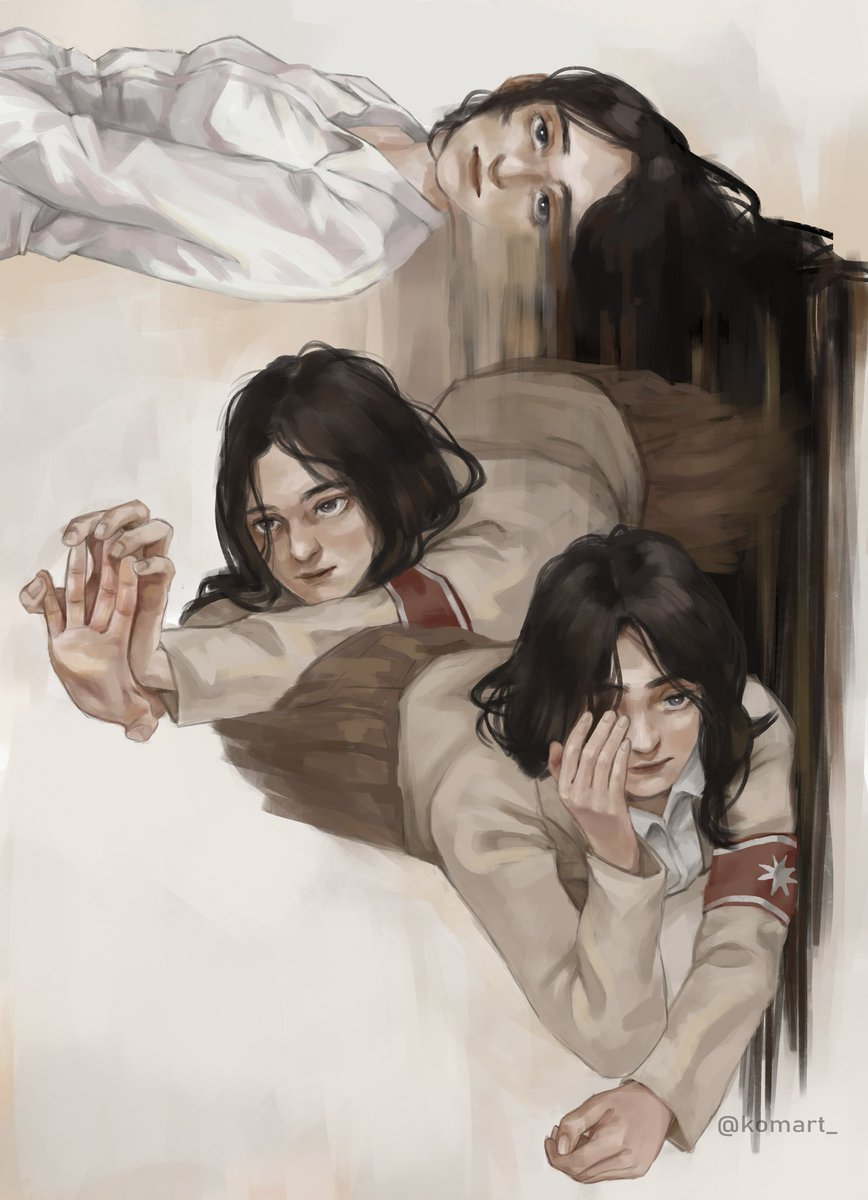 RT @komart_: she just woke up 😴 #pieck #pieckfinger #ShingekiNoKyojin #AttackOnTitan https://t.co/jW4Nac4qWO