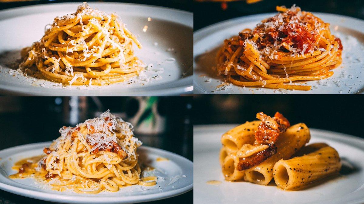 Learn how to make the 4 Roman pastas featured in #searchingforitaly  #homecooking #pastas #romanpasta #recipes #carbonara #italianfood