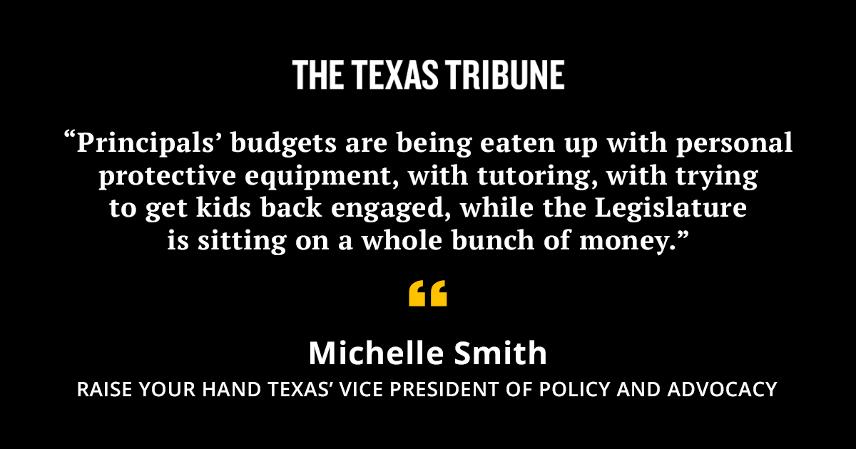 Three federal stimulus packages that passed during the pandemic included more than $19 billion for Texas public schools, but state leaders have yet to distribute most of the money.   Local districts say they need it to cover pandemic-related costs. https://t.co/42KzTmyBgP https://t.co/sINnoO2RdT