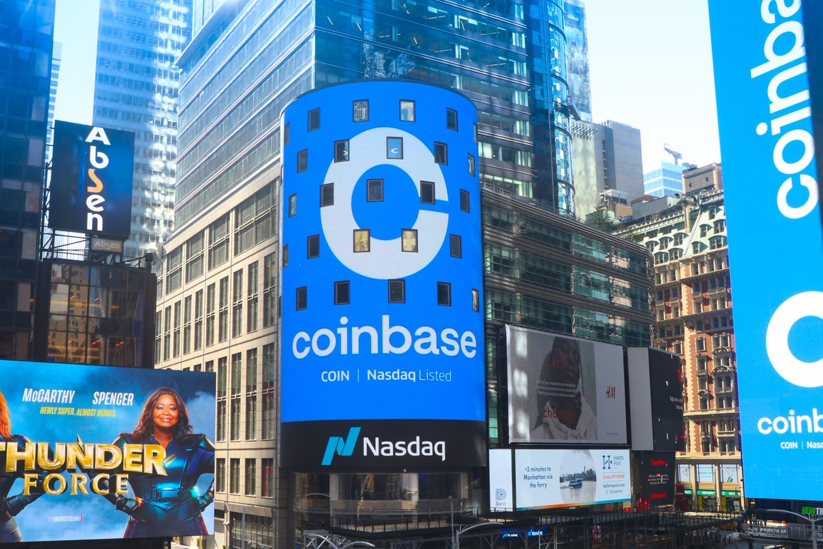 🔥Coinbase public debut is historic moment for cryptocurrencies.   Such case inspires all market participants.  $coin #news #crypto #bitcoin