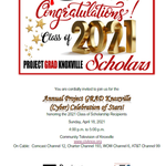 Image for the Tweet beginning: Project GRAD Knoxville is excited