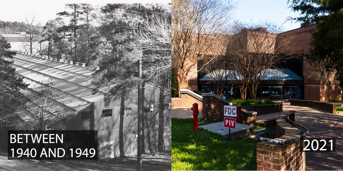 Before the Dean Dome, Carmichael Arena and even Woollen Gym, there was the Tin Can. @UNC_Basketball called the building home in the 1920s and 1930s, and it even served as a dormitory for a period after World War II. It was torn down in 1977 to make room for #UNC's Fetzer Hall htt…