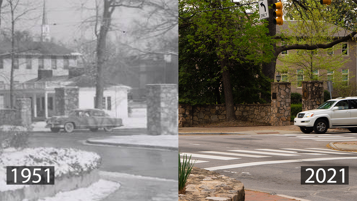 The Scuttlebutt snack bar served up coffee and other nourishment to #UNC students at the intersection of Columbia Street and Cameron Avenue. Initially a canteen for Navy pilots training for World War II, the Scuttlebutt was demolished in 1996 after falling into disrepair https://…