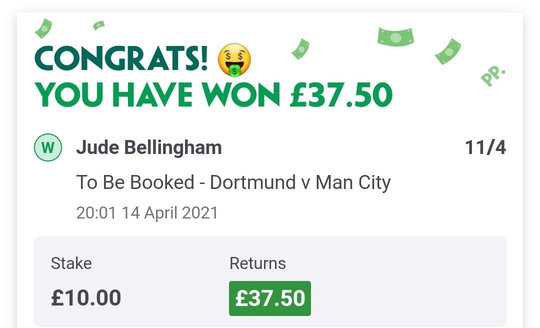 Bellingham card in for @BettingOddsUK 👍 https://t.co/cQSSqrOau3