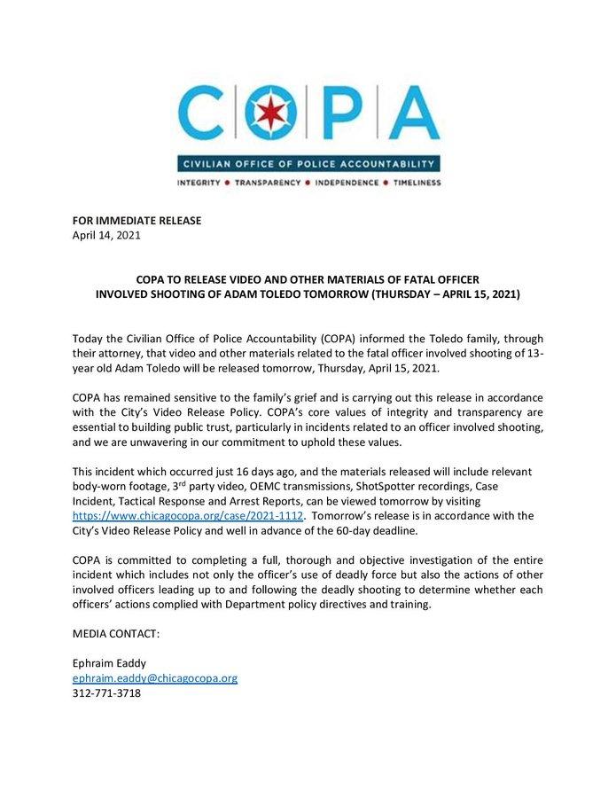 Comunicado de COPA.
