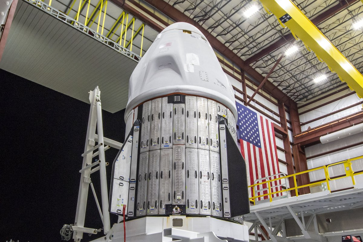 Welcome back to Kennedy Space Center, Crew Dragon! 🐉  @SpaceX's Crew Dragon Endeavour made its way from Cape Canaveral Space Force Station to the Launch Complex 39A integration hangar this week in preparation for the Crew-2 mission launching on April 22:
