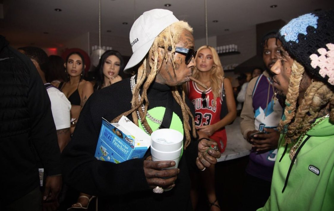 Lil Wayne, Young Thug & Chris Brown at King Combs Birthday Party https://t.co/kOby8XU86L