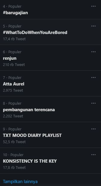 Atta-Aurel trending topil di Twitter