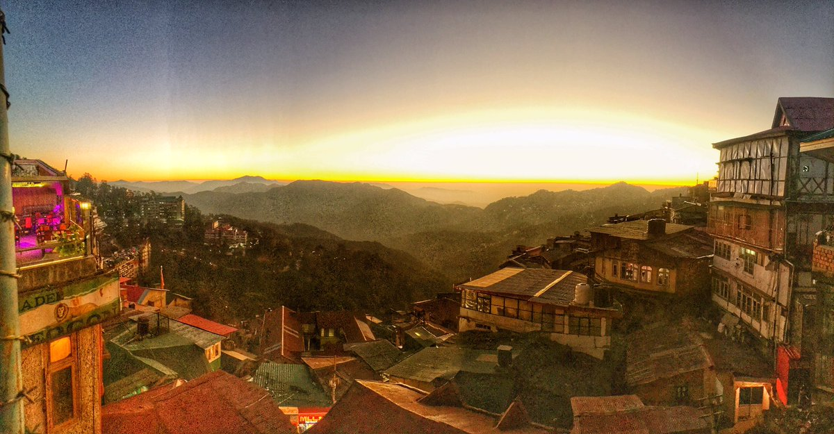 Thank you @mohanish_pareek for sharing this enchanting collage of dawn and dusk hours of Shimla in Himachal Pradesh! It looks surreal as rustic charm of nature fuses into oneness with golden glow! @hp_tourism  #DekhoApnaDesh