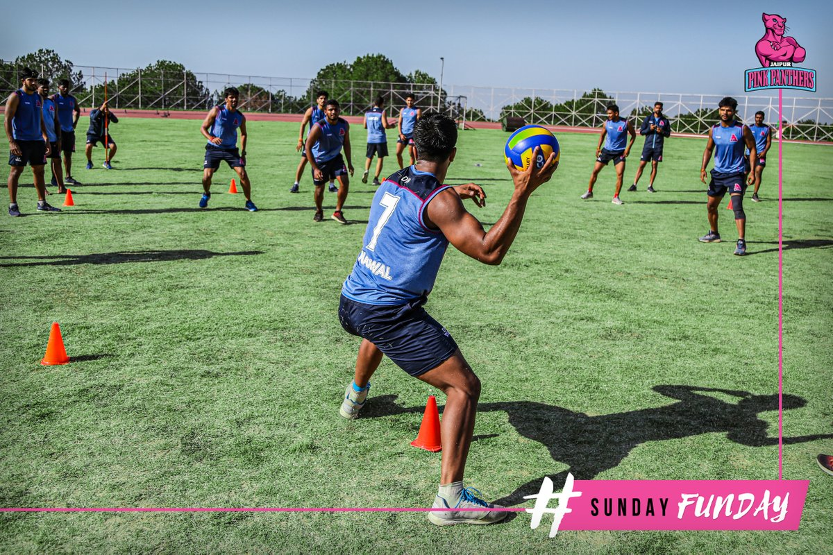 If it's not fun, you're not doing it right!  #SundayFunday #PantherSquad #JaiHanuman #TopCats #JaipurPinkPanthers #JPP #Jaipur #vivoprokabaddi