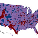 Image for the Tweet beginning: Counties that swung >5% in
